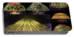 Illuminated Tiffany Lamps - A Collage Portable Battery Charger