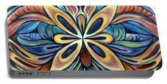 Portable Battery Charger featuring the painting Illumination by Shadia Derbyshire