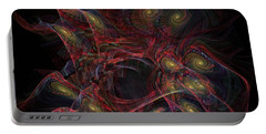 Portable Battery Charger featuring the digital art Illusion And Chance - Fractal Art by NirvanaBlues