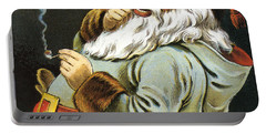 Illustration Of Santa Claus Smoking A Pipe Portable Battery Charger
