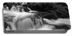 Portable Battery Charger featuring the photograph Ilse, Harz Monochrome  by Andreas Levi