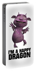 I'm A Happy Dragon Portable Battery Charger by Esoterica Art Agency