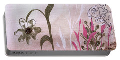 Portable Battery Charger featuring the painting I'm A Survivor by Robin Maria Pedrero