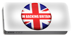 Im Backing Britain Portable Battery Charger by Roger Lighterness