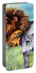 Portable Battery Charger featuring the painting I'm In Love With You by Maria Barry