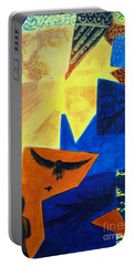Portable Battery Charger featuring the painting Imagination by Maria Langgle