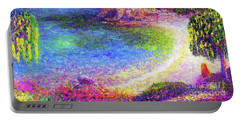 Imagine, Meditating In Beautiful Bay,seascape Portable Battery Charger by Jane Small