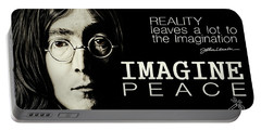 Imagine Peace- John Lennon Portable Battery Charger