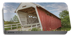 Portable Battery Charger featuring the photograph Imes Covered Bridge by Susan Rissi Tregoning