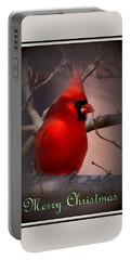 Img_3158-005 - Northern Cardinal Christmas Card Portable Battery Charger