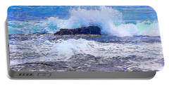 Ocean Impact In Abstract 1 Portable Battery Charger