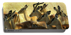 Impalas In The Plains Portable Battery Charger