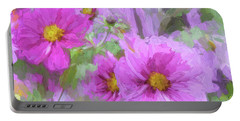 Impasto Cosmos Portable Battery Charger by Bonnie Bruno