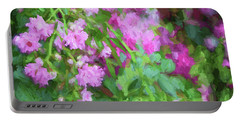 Impasto Roses Portable Battery Charger by Bonnie Bruno