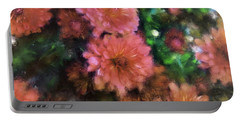 Bronze And Pink Mums Portable Battery Charger