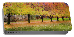 Impressionist Autumn Portable Battery Charger by Theresa Tahara