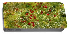 Impressionist Poppies Portable Battery Charger