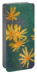 Impressionist Yellow Wildflowers Portable Battery Charger by Smilin Eyes  Treasures