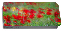 Impressionistic Blossom Near Shderot Portable Battery Charger