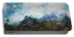Impressionistic Landscape Portable Battery Charger