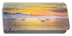 Portable Battery Charger featuring the painting Impressions Of Provincetown by Bill Holkham