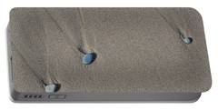 Imprints Of Waves Portable Battery Charger
