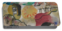 Portable Battery Charger featuring the painting Improvisation 27 Garden Of Love II by Vasily Kandinsky