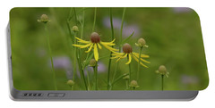 In A Green Meadow Portable Battery Charger by Tim Good
