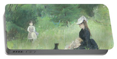 In A Park Portable Battery Charger by Berthe Morisot