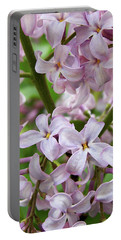 Portable Battery Charger featuring the photograph In A Sea Of Lilacs by Kathi Mirto