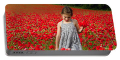 In A Sea Of Poppies Portable Battery Charger