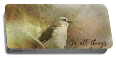 In All Things Give Thanks Portable Battery Charger
