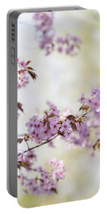 Portable Battery Charger featuring the photograph In Bloom. Spring Watercolors by Jenny Rainbow