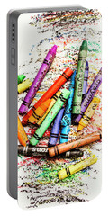 In Colours Of Broken Crayons Portable Battery Charger