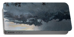 In Coming Storm-epping Forest On The Lake Portable Battery Charger