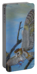 In Flight Barn Owl Portable Battery Charger