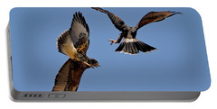 Portable Battery Charger featuring the photograph In Flight Challenge H43 by Mark Myhaver