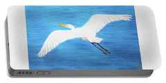 Portable Battery Charger featuring the mixed media In Flight Entertainment by Deborah Boyd