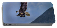 Portable Battery Charger featuring the photograph In Flight Lunch by Timothy Latta