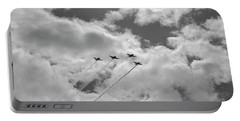 in Formation - Vintage Planes Portable Battery Charger