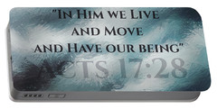 In Him We Live... Portable Battery Charger