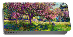 In Love With Spring, Blossom Trees Portable Battery Charger