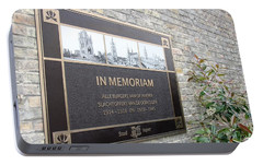 Portable Battery Charger featuring the photograph In Memoriam - Ypres by Travel Pics
