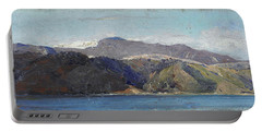 Portable Battery Charger featuring the painting In Quarantine, Wellington by Tom Roberts