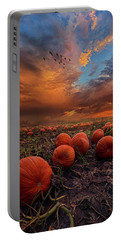 In Search Of The Great Pumpkin Portable Battery Charger by Phil Koch