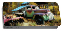 In The Autumn Of Life - 1945 Ford Flatbed Truck Portable Battery Charger