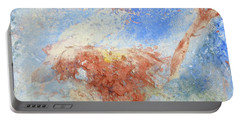 Portable Battery Charger featuring the mixed media In The Beginning by Deborah Boyd