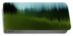 Portable Battery Charger featuring the digital art In The Black Forest by Gina Harrison