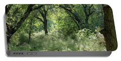 Portable Battery Charger featuring the photograph In The Forest Thickets by Arik Baltinester