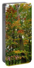 Portable Battery Charger featuring the photograph In The Height Of Autumn by Joan  Minchak